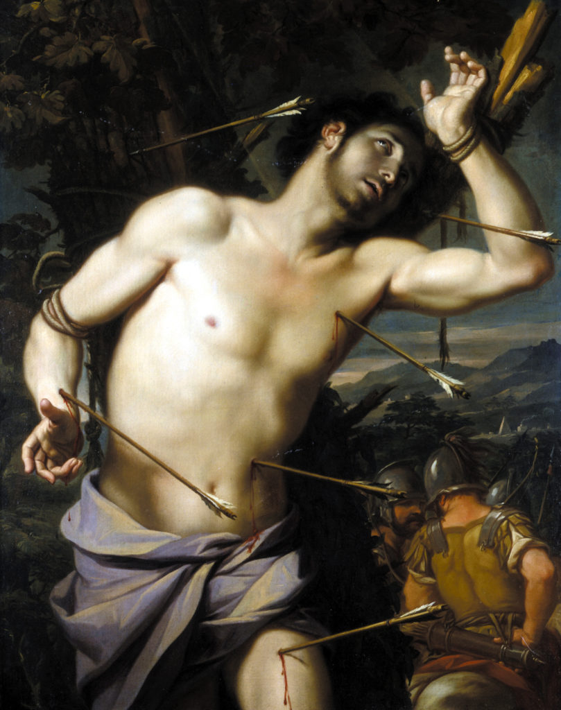 Painting depicting slain St. Sebastian